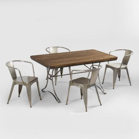 Jackson Dining Collection Rectangular Table With Metal Base Previous V5