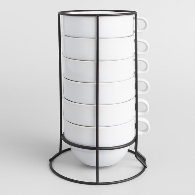 Stacking Jumbo Mugs Set of 6
