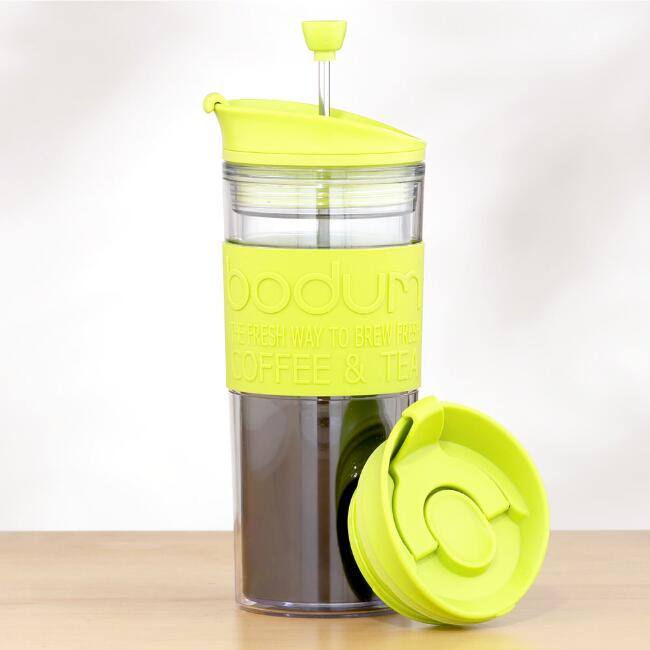 Travel French Press, Green
