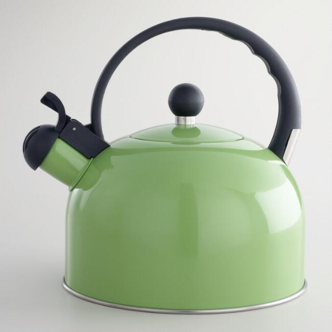 Green Enamel Tea Kettle