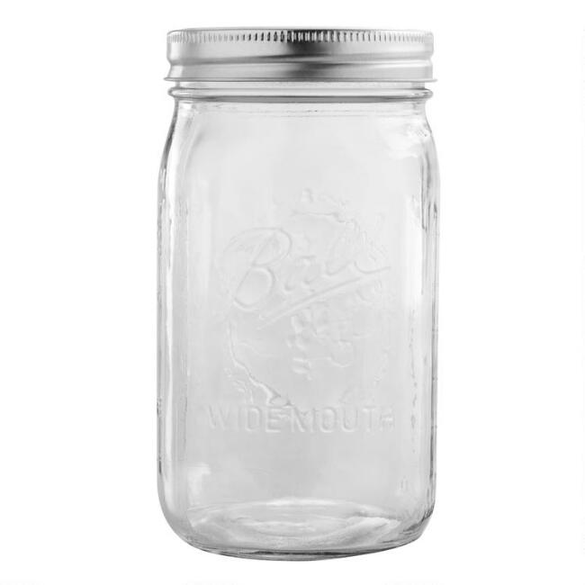 Ball Wide Mouth Quart Mason Jars Set Of 12