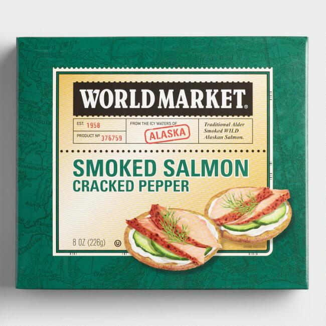 World Market® Cracked Pepper Alaskan Smoked Salmon