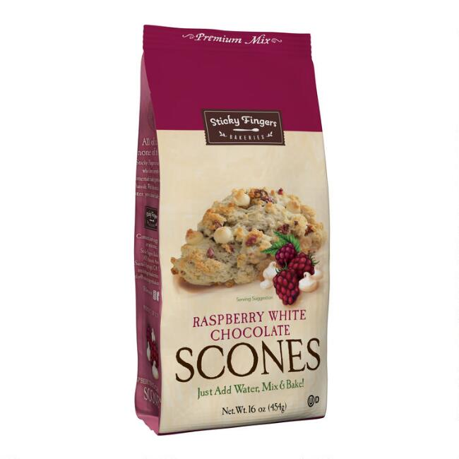 Sticky Fingers Raspberry White Chocolate Scone Mix Set Of 6