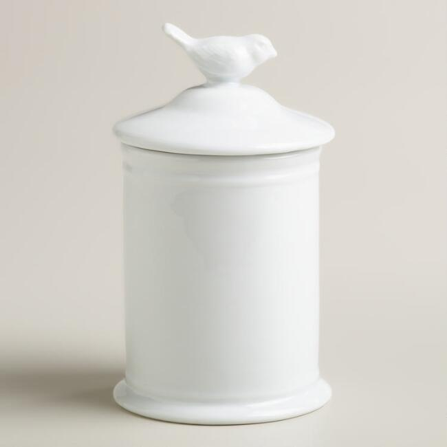 Medium Bird Ceramic Canister