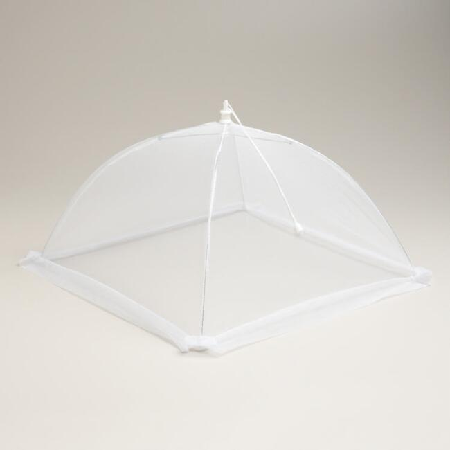 White Collapsible Mesh Food Tents, Set of 3