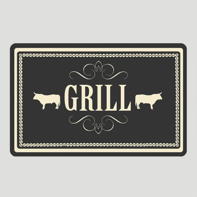 Steer Grill Cushioned Floor Mat