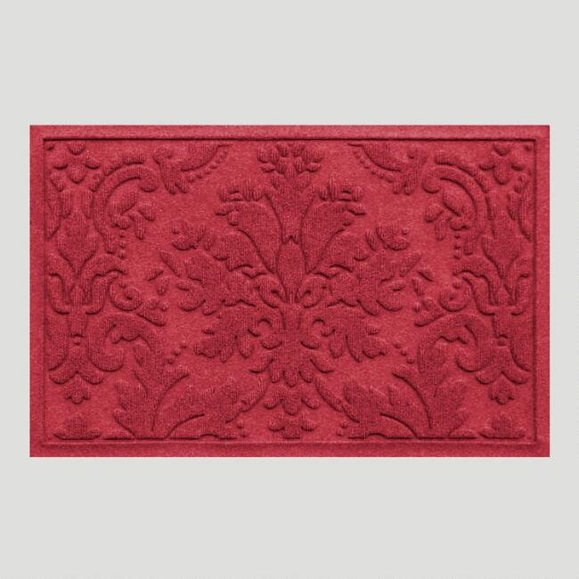 Red Brocade WaterGuard Doormat
