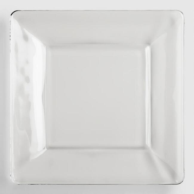 Tempo Square Dinner Plates, Set of 4