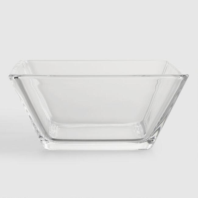 Tempo Square Glass Soup Bowls, Set of 4