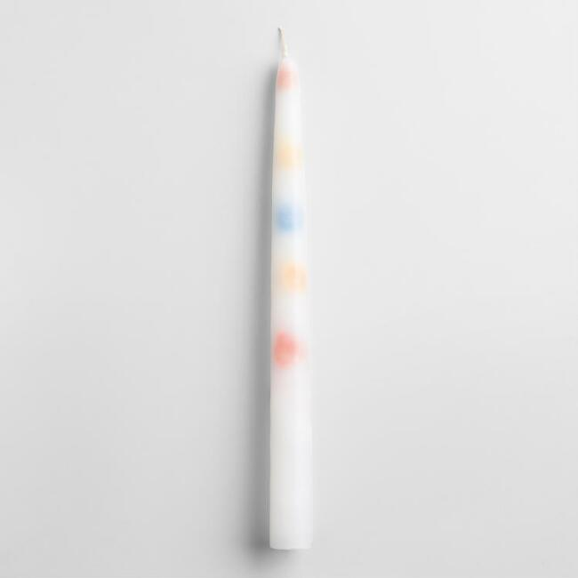 Color Drip Taper Candles, Set of 2