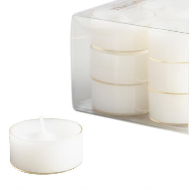 Clear Cup Tealight Candles 12-Pack