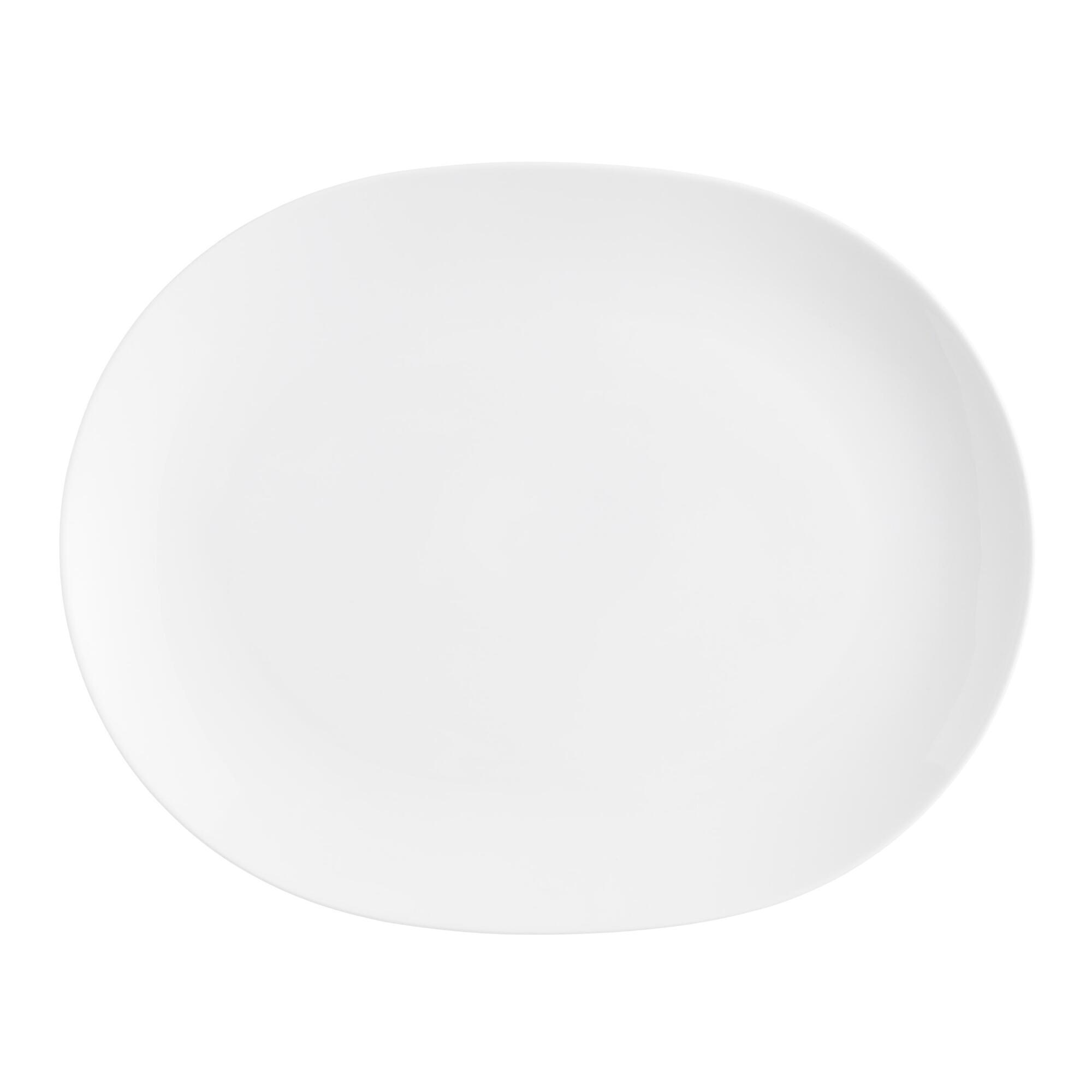 White Coupe Oval Platter - Porcelain by World Market