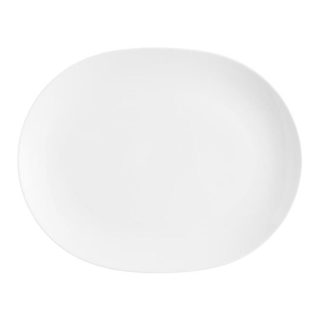 White Coupe Serving Platter