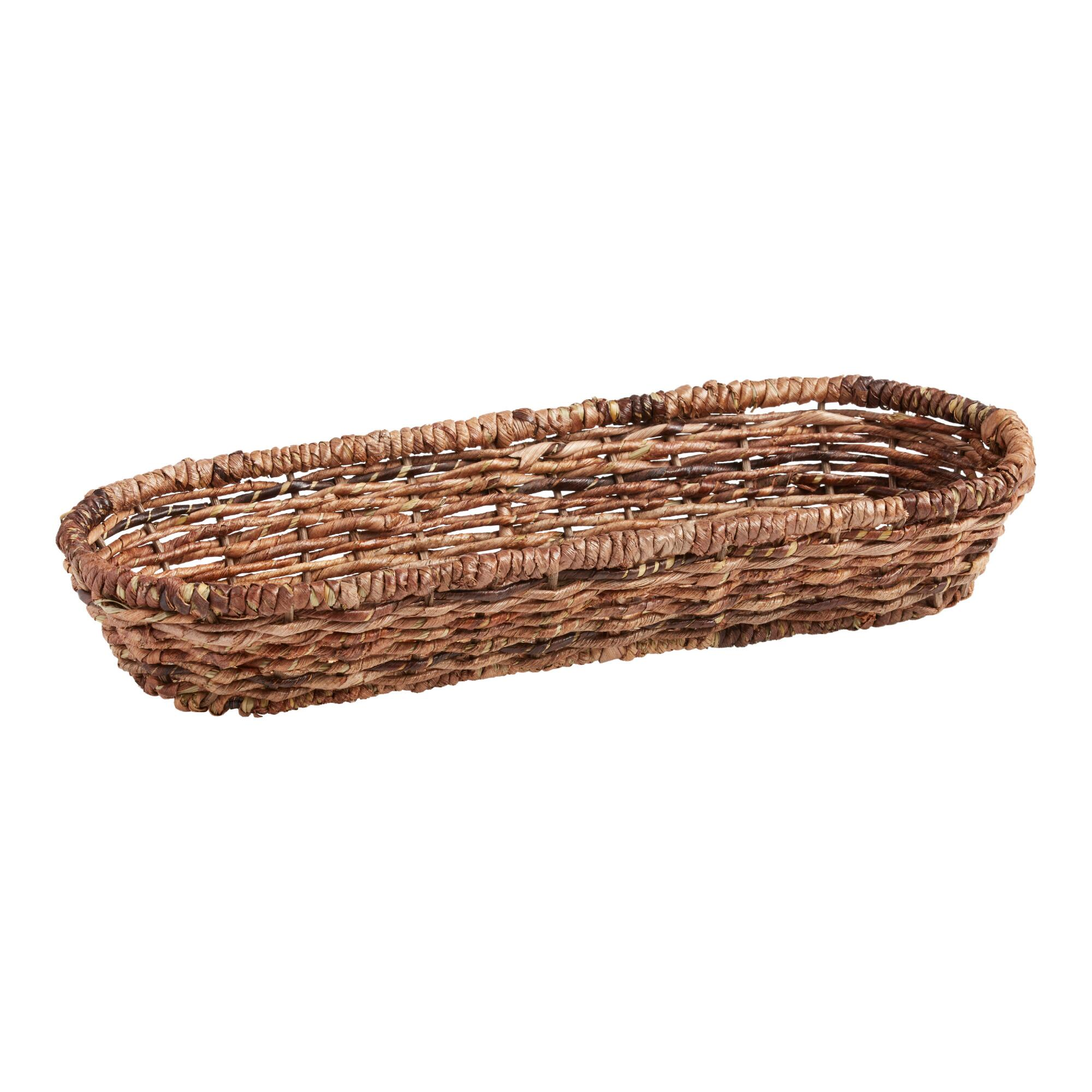 Madras Oval Basket: Brown - Natural Fiber by World Market