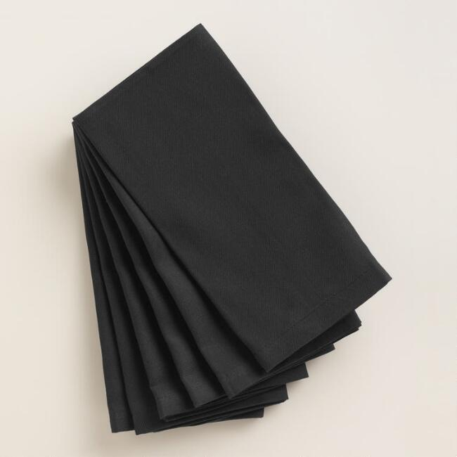 Black Buffet Napkins, Set of 6