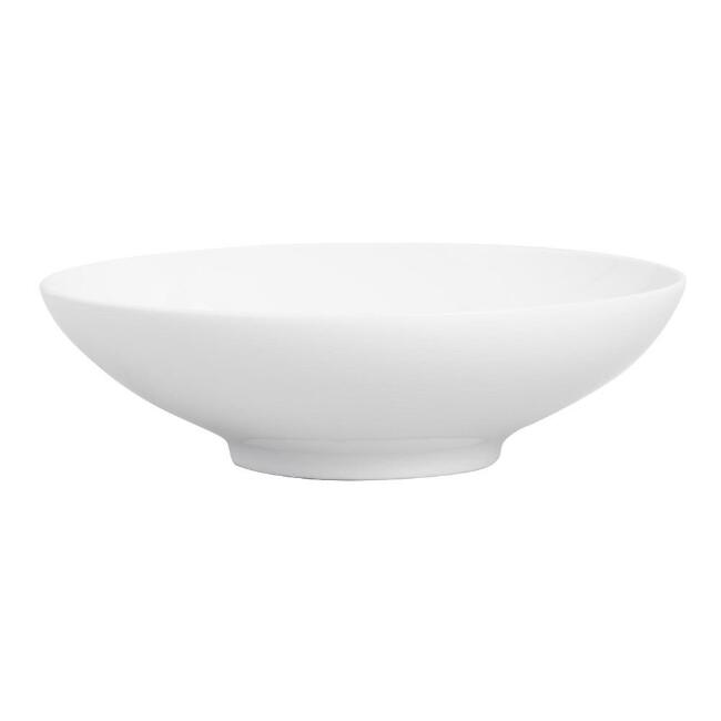 White Porcelain Flared Rim Coupe Serving Bowl