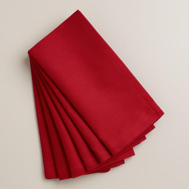 Chili Pepper Red Buffet Napkins, Set of 6