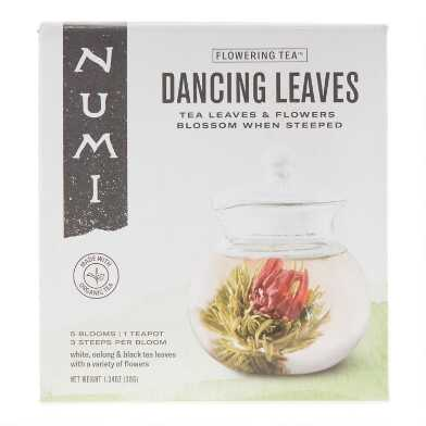 Numi Dancing Leaves Flowering Tea and Glass Teapot Set