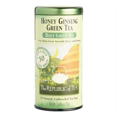 The Republic Of Tea Honey Ginseng Green Tea 50 Count