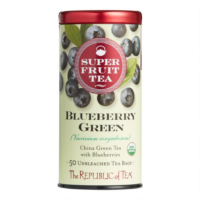The Republic Of Tea Superfruit Blueberry Green Tea 50 Count