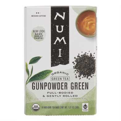 Numi Organic Gunpowder Green Tea, 18 Count Box