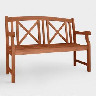 Small Greenport Garden Bench. Outdoor Chairs  Seating and Sectionals   World Market