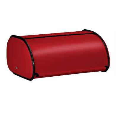 Red Stainless Steel Bread Box