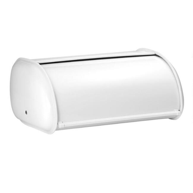 White Stainless Steel Bread Bin