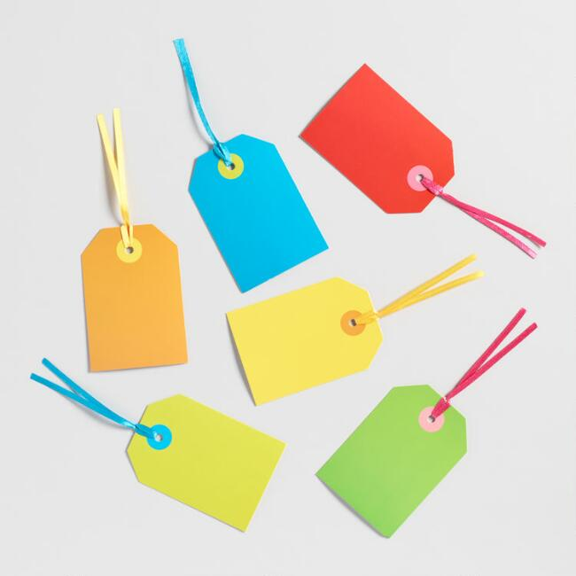 Solid Color Gift Tags