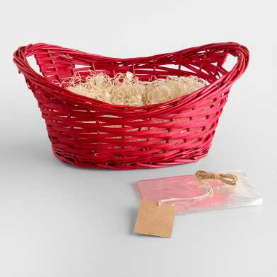 Red Gift Basket Kit