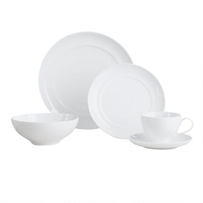 White Spin Dinnerware