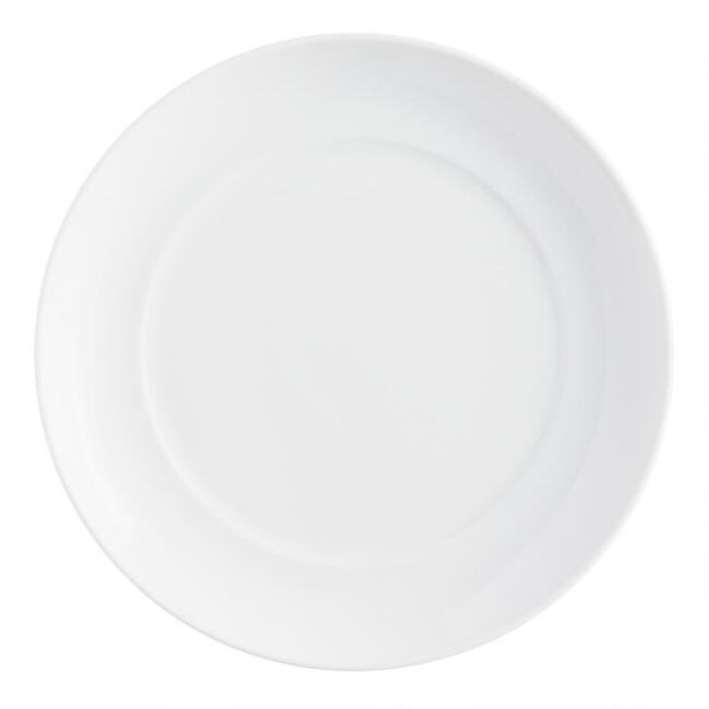 White Porcelain Spin Salad Plates Set Of 4