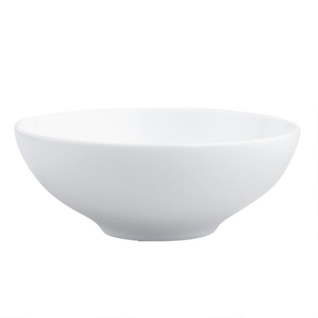 White Porcelain Spin Bowls Set Of 4