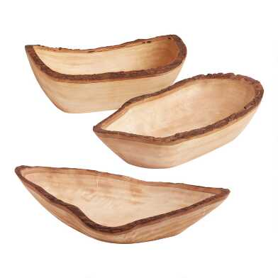 Natural Wood Bark Bowl