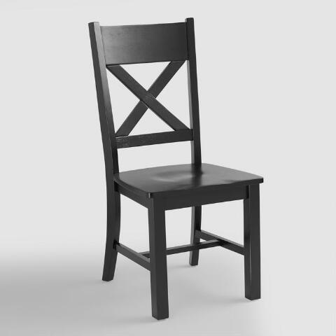 v1 - Antique Black Verona Side Chairs, Set Of 2 World Market