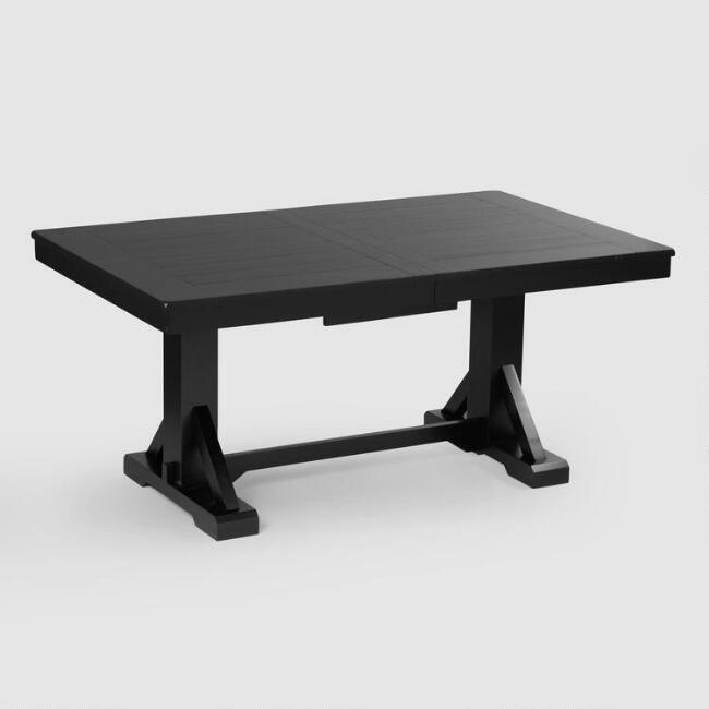 Antique black verona trestle table world market watchthetrailerfo