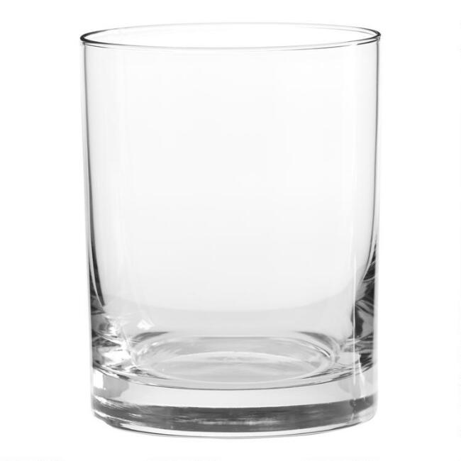 Heavy Sham Double Old Fashioned Glasses Set Of 4 World
