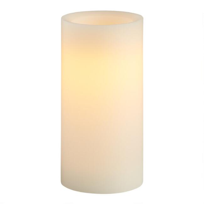 3x6 Ivory Flameless LED Pillar Candle