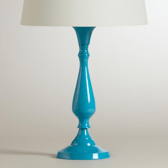 Turquoise Greta Candlestick Accent Lamp Base