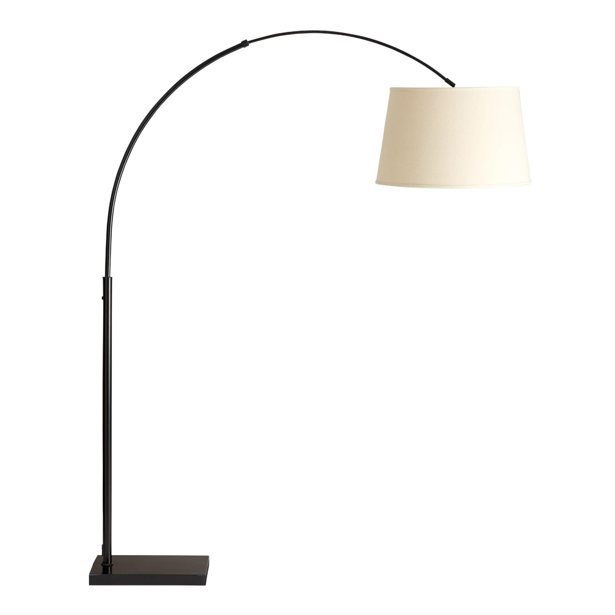 Loden Arc Floor Lamp Base: Brown - Metal by World Market