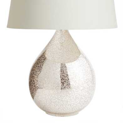 Martina Aged Mirror Teardrop Table Lamp Base