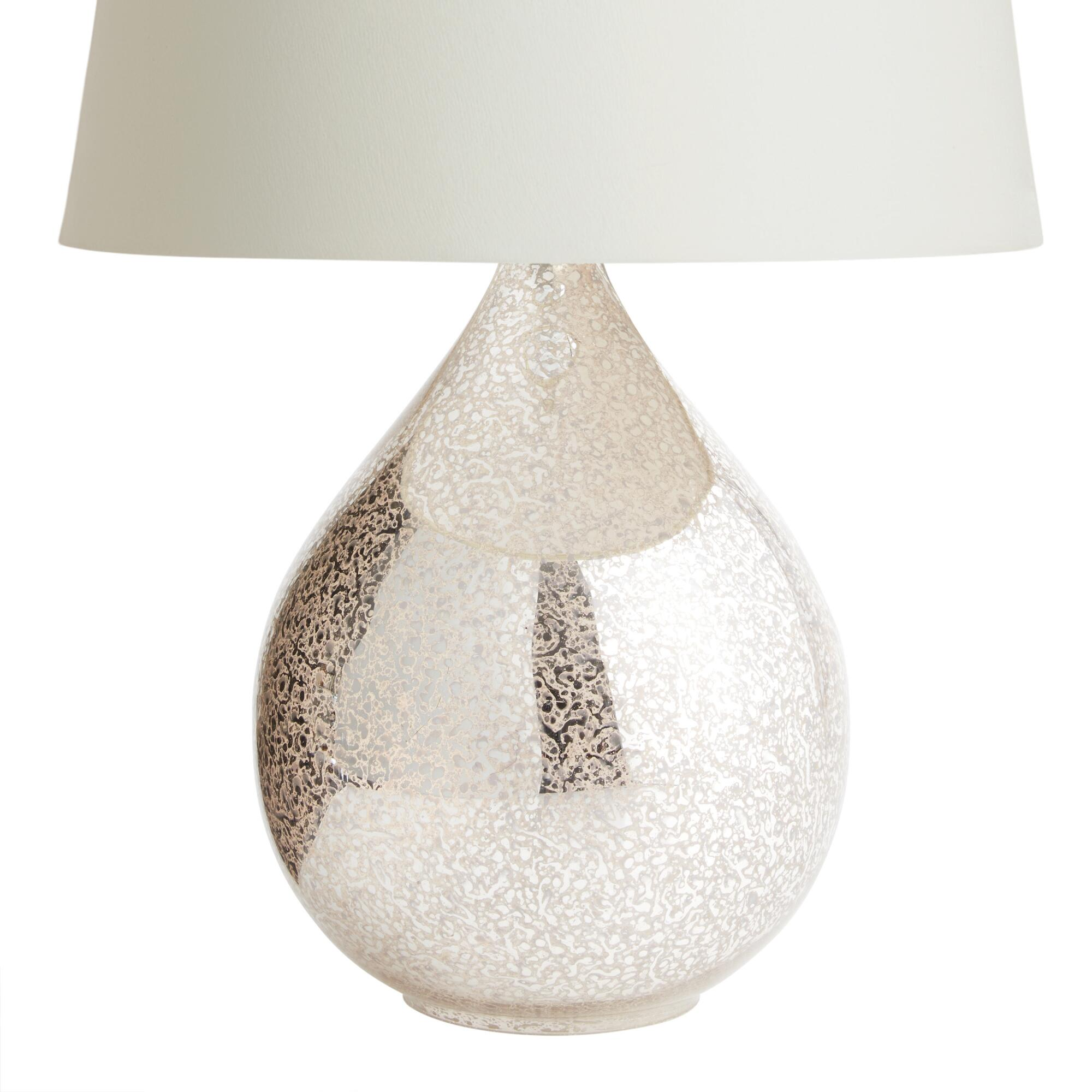 Cost Plus World Market Martina Aged Mirror Table Lamp Base Silver Glass By World Market
