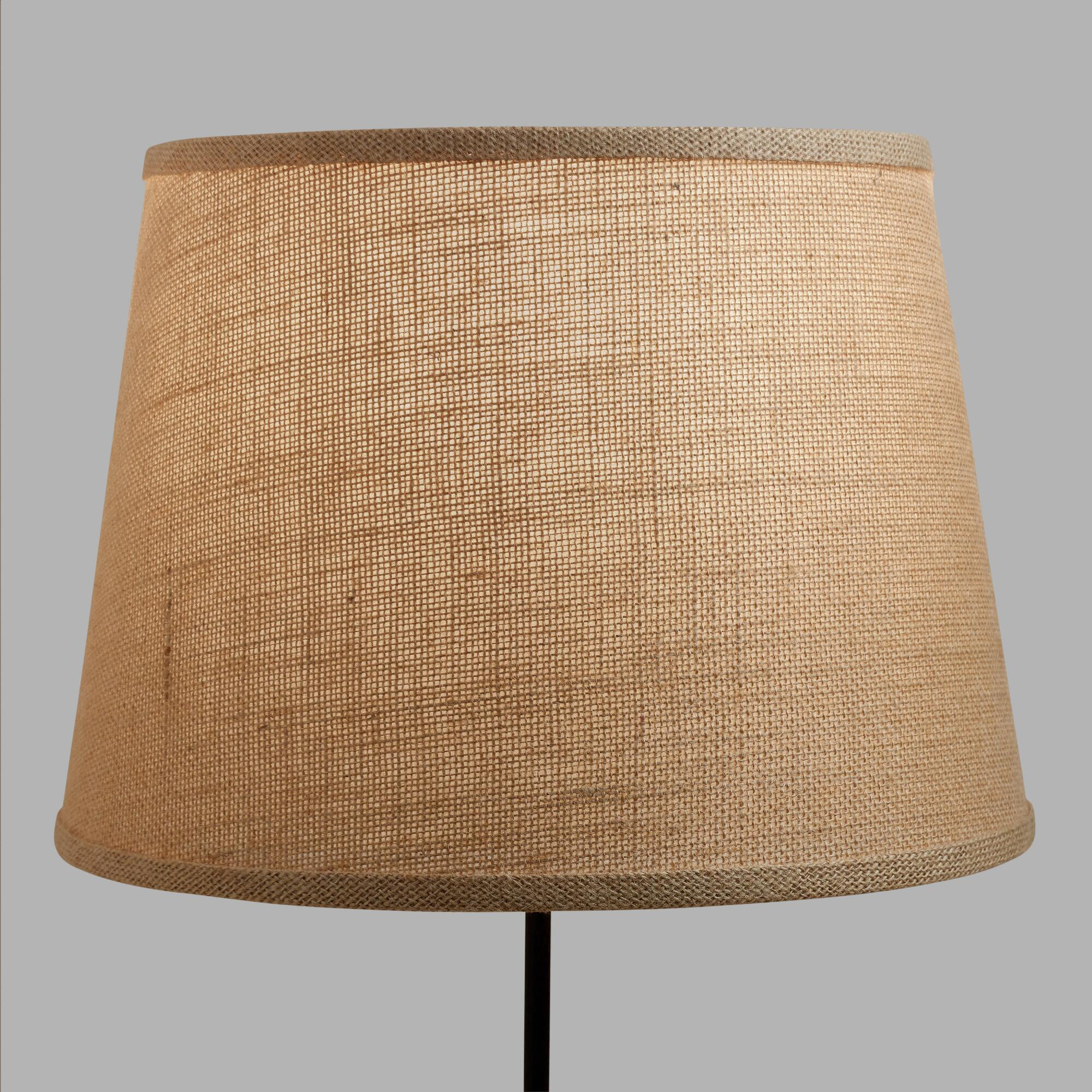 Natural burlap table lamp shade world market aloadofball Image collections