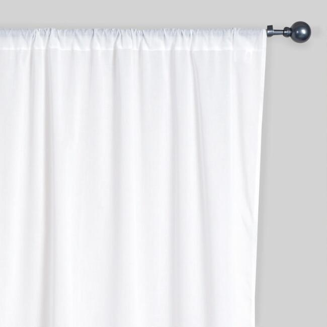 White Cotton Voile Curtains, Set of 2 | World Market