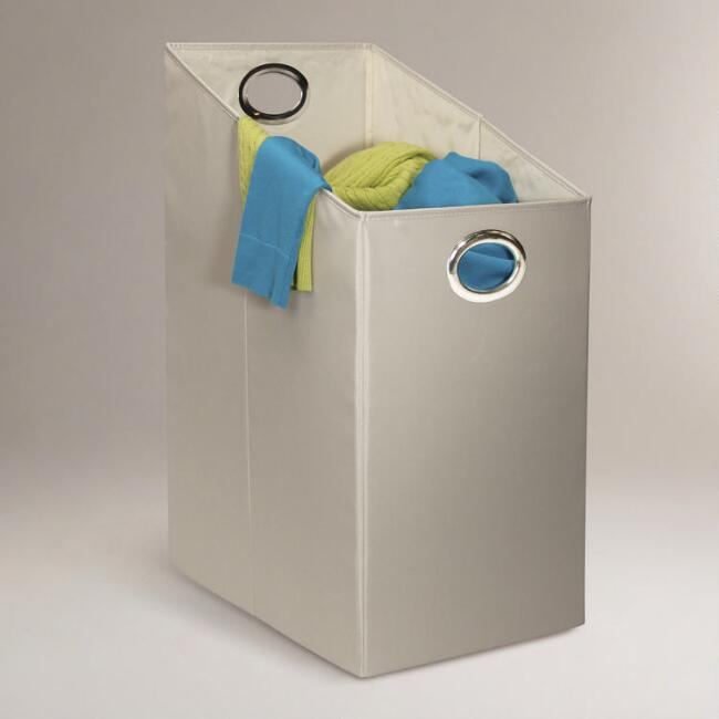 Slanted Opening Canvas Laundry Hamper