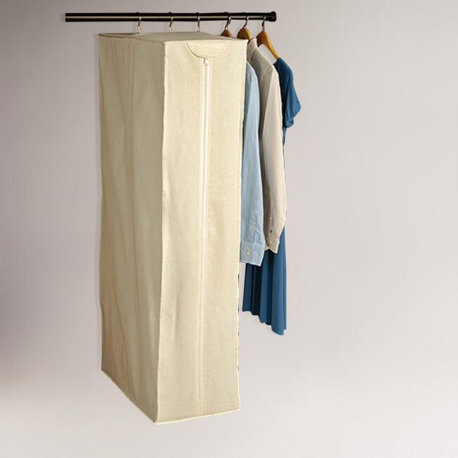 Natural Canvas Hanging Dress Bag