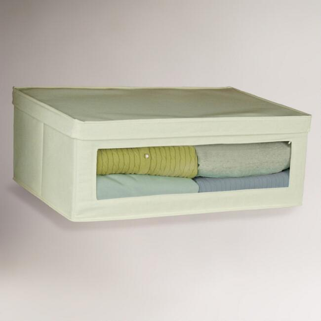 Natural Canvas Large Storage Box