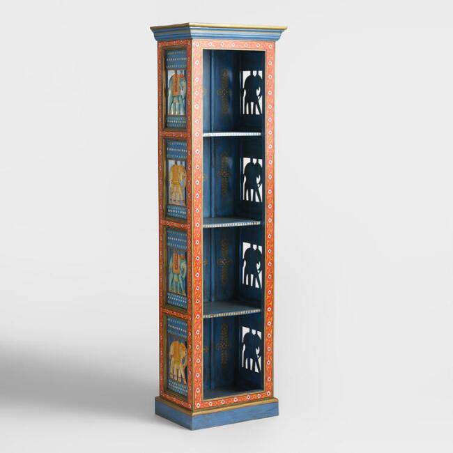 Hand Painted Wood Elephant Bookshelf