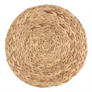 Round Natural Fiber Placemats Set Of 4