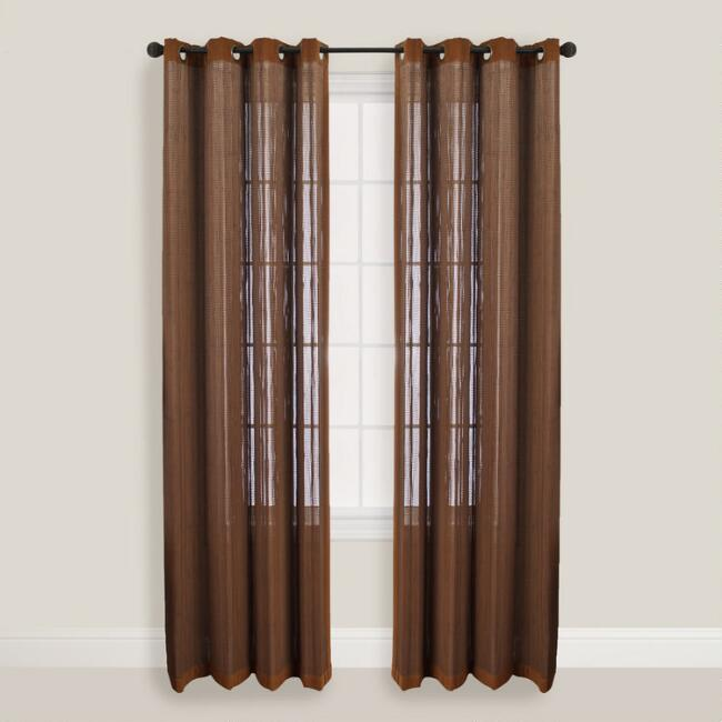 Walnut Bamboo Curtains with Grommets